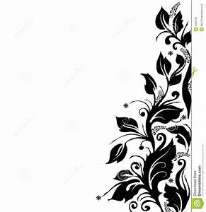 Cadre Noir Et Blanc : cadre floral noir et blanc images libres de droits image 3420709 ~ Teatrodelosmanantiales.com Idées de Décoration