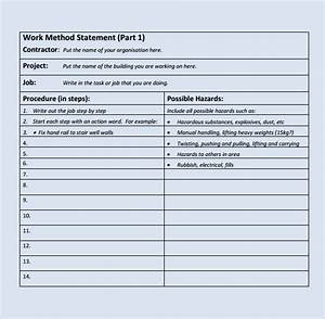 9 method statement templates to download for free sample With electrical installation method statement template free