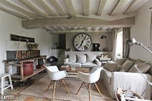 Deco Maison Avec Poutre : d co salon longere ~ Zukunftsfamilie.com Idées de Décoration
