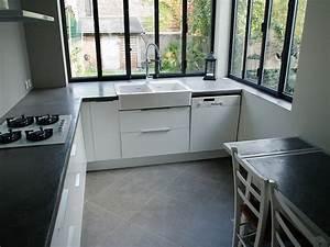 plans de travail beton cire entreprise les ateliers de verone With plan de travail cuisine gris anthracite