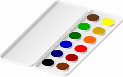 Paint Tray Clipart Watercolor Watercolors