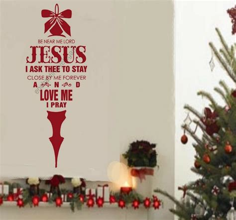lord jesus christmas decor vinyl decal stickers