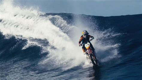 Robbie Maddison Rides A Dirtbike Across Water
