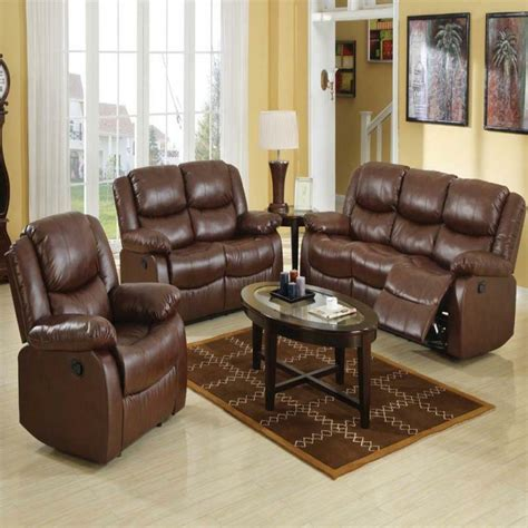 modern sofa and loveseat sets new 3pc motion sofa set living room brown modern