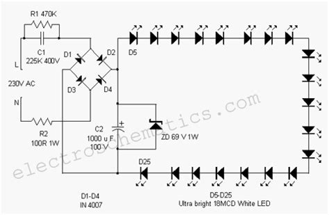 cool electronics circuits white led flood l