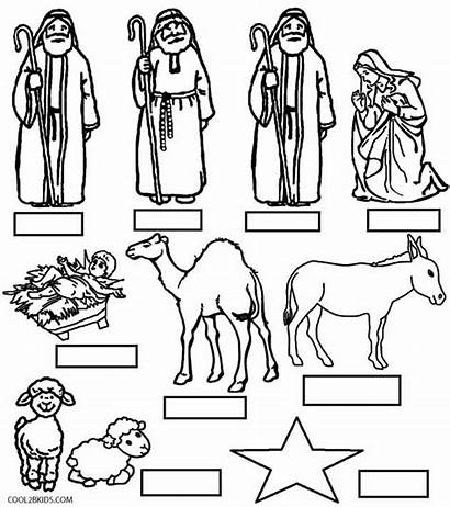 Nativity Coloring Scene Pages Characters Precious Moments