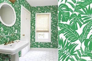 papiers peints pour une salle de bain tropicale blog au With salle de bain design avec décoration soirée tropicale