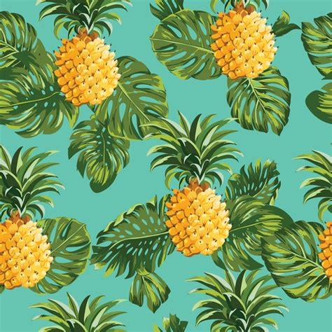 chambre an馗ho ue papier peint pineapples and tropical leaves tropical pixers fr