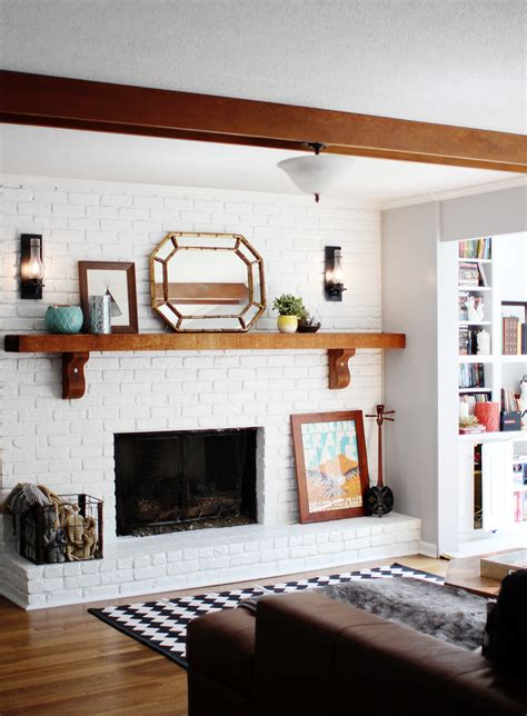 white brick fireplace home decorating diy
