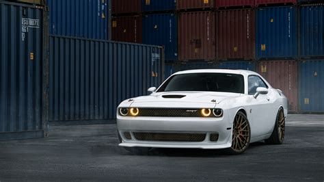 Dodge Challenger Srt Hellcat White Wallpaper
