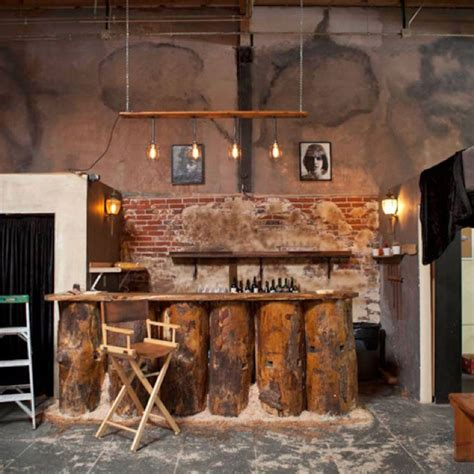 Shop Home Bars by Just A Really Cool Industrial Chic Exposed Brick Bar