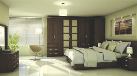 Contemporary Walnut Effect Modular Bedroom Furniture