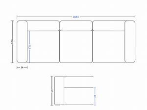 Dimension Canapé 3 Places : hd home design mags canap 3 4 places hay ~ Voncanada.com Idées de Décoration