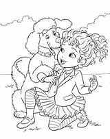 Nancy Fancy Coloring Poodle Dog Pages Frenchy Owner Colouring Disney Getcoloringpages sketch template