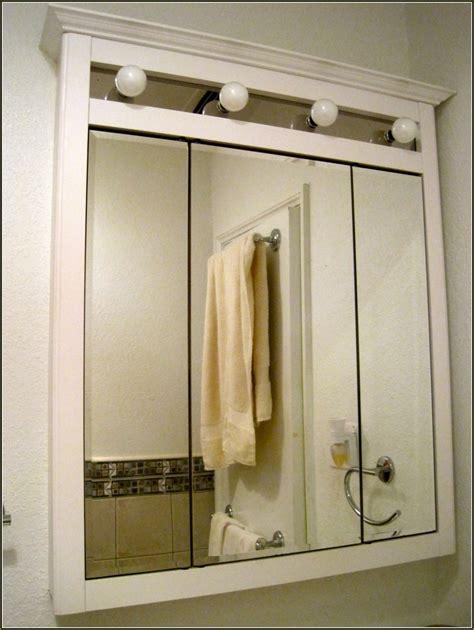 Medicine Cabinet Lighting Ideas - medicine cabinet lights bathroom glossy mirrored