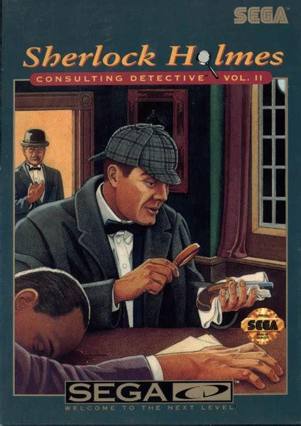 sherlock holmes cd sega detective consulting ii vol box mega front game volume scans emuparadise segacd iso title estarland covers
