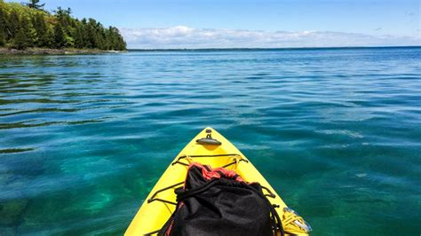door county kayaking kayaking lake michigan caves in wisconsin s door county