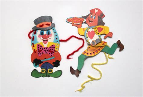 Vintage Nursery Rhyme Character Shaped Sewing Cards