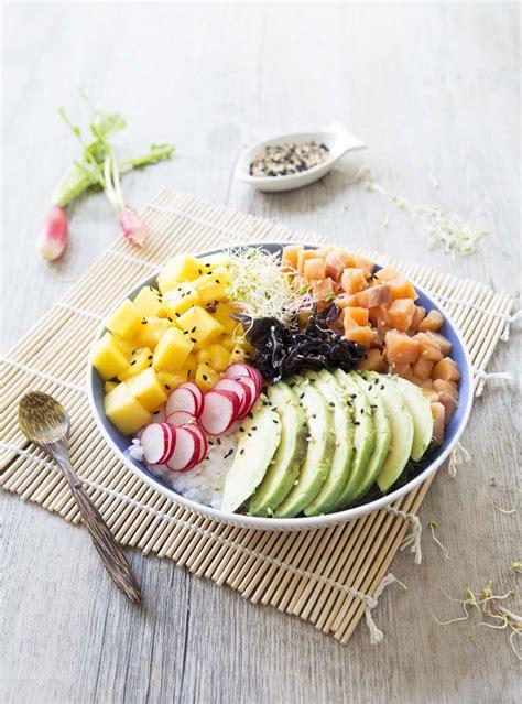 recette de cuisine saumon poke bowl au saumon les meilleures recettes de cuisine d