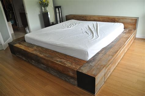 environment furniture luxury reclaimed wood platform bed