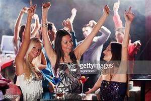 Three Girls Dancing In A Disco Club Stock Photo | Getty Images