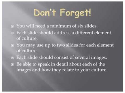 culture sample powerpoint  youtube