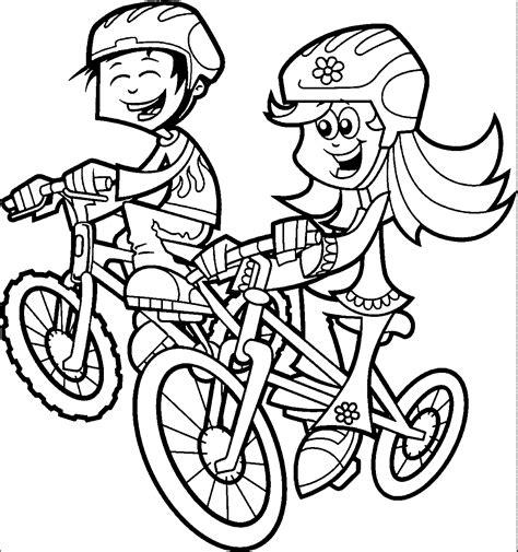 Riding Bike Coloring Pages Wecoloringpagecom