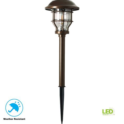 hampton bay solar brass outdoor integrated led