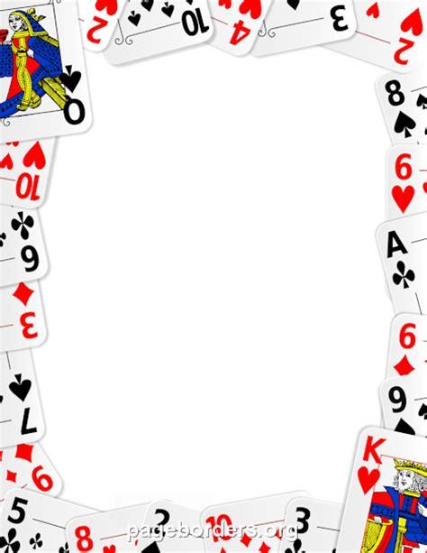 playing card border clip art page border  vector