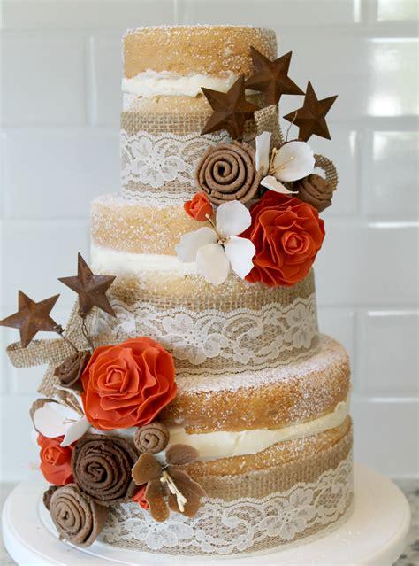 Burlap And Lace Wedding Cake Joyfully Home