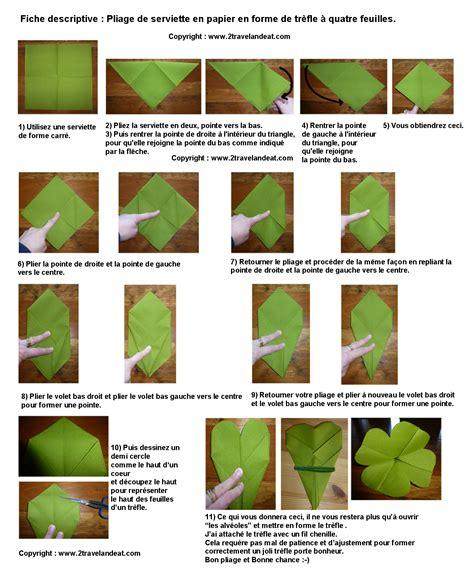 pliage de serviette de table en forme de tr 232 fle 224 quatre feuilles plier une serviette de table