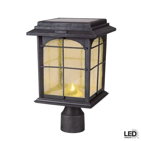 outdoor solar l post upc 609839462401 hton bay posts solar outdoor hand