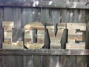 wedding decor pallet love letters reclaimed wood wooden With pallet wood letters