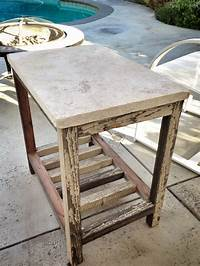 fine patio side table plans Ana White | Travertine Paver Side Table - DIY Projects