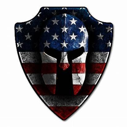 Spartan Helmet American Decal Warrior Flag Decals