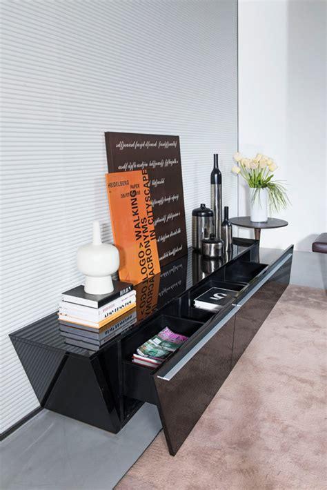 modrest barbara contemporary black tv stand
