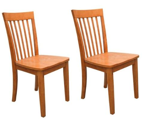 Set Of 2 Heavy Duty Solid Wood Maple Finish Dining Room