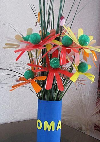 bloem maken als surprise knutselidee bos bloemen cadeau