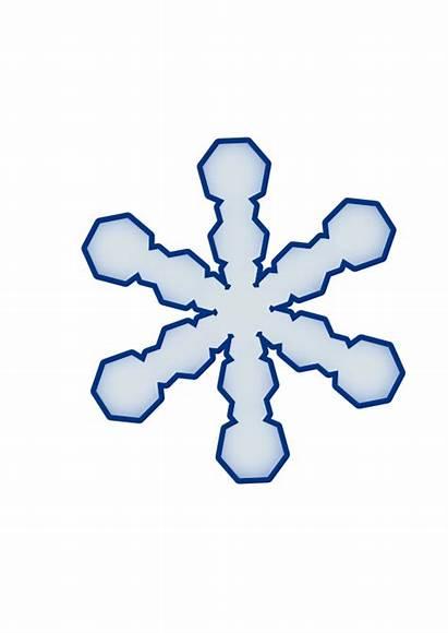 Snowflake Clip Clipart Simple Outline Border Vector