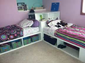 Jordan Twin Corner Bed by Ana White Storage Beds Twin With Corner Unit Diy