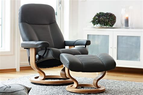 stressless consul chair ottoman the century house
