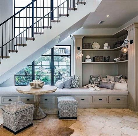 Builders rarely utilize the space under a staircase; Top 70 Best Under Stairs Ideas - Storage Designs