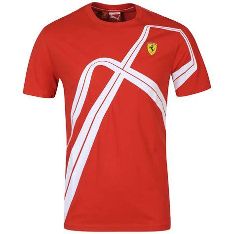 puma mens ferrari graphic  shirt rosso corsa clothing