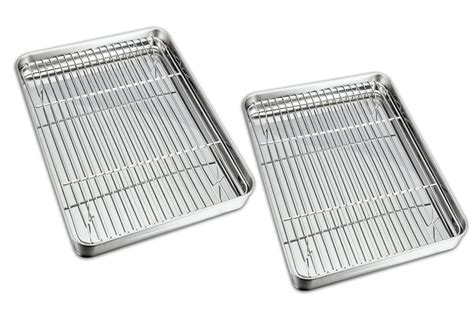 sheet rack cooling cookie sheets baking clean pan stainless steel non dishwasher safe teamfar toxic healthy easy tray pans rust
