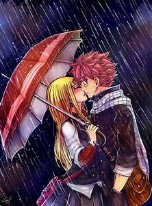 Kiss in the rain | #Natsu and Lucy