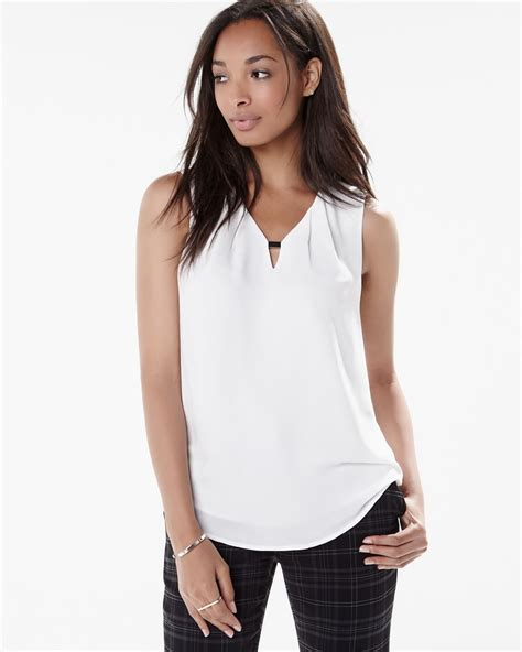 the blouse sleeveless blouse with metal detail rw co