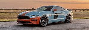 Gulf Livery Ford Mustang S550 - Forgestar CF10 Wheels in Gunmetal