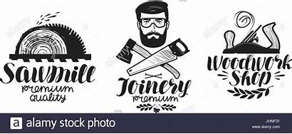 Sawmill Vector Label Joinery Icon Handwritten Clipart