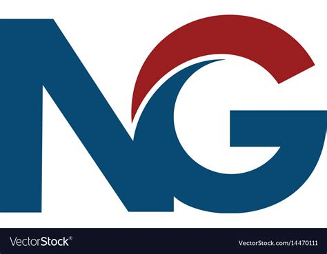 Ng N G Business Letter Logo Design Royalty Free Vector Image