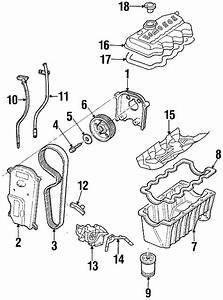 1999 Ford Escort Engine Timing Cover  2 0l Sohc  Inner